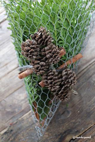 diy kremmerhus av hønsenetting // diy chicken wire cornets