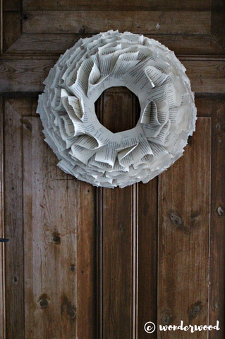 diy papirkrans // diy paper wreath