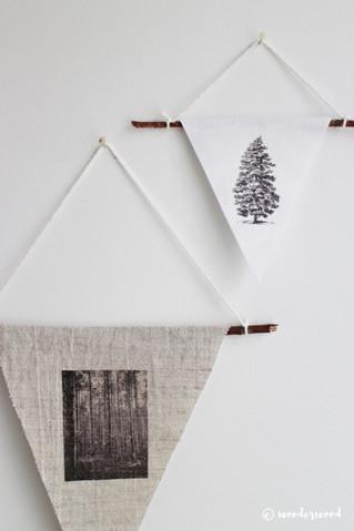 diy vimpler til veggen // diy decoration pennants