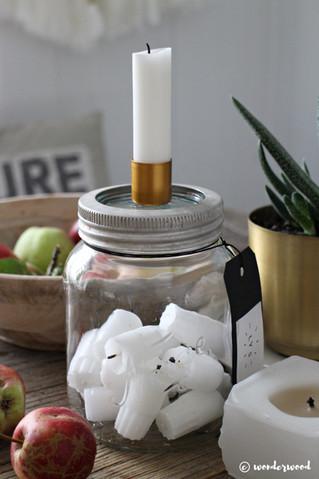diy stumplysestake // diy candle holder in a jar