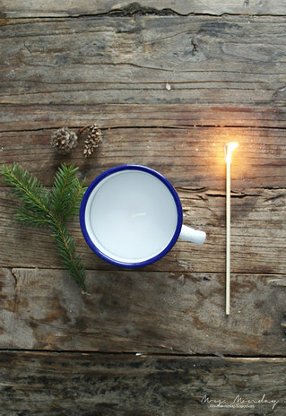diy lys i kopp // diy candle in a cup