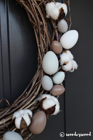 diy enkel påskekrans // diy easy easter wreath