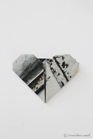diy rustikke origami hjerter // diy rustic origami hearts