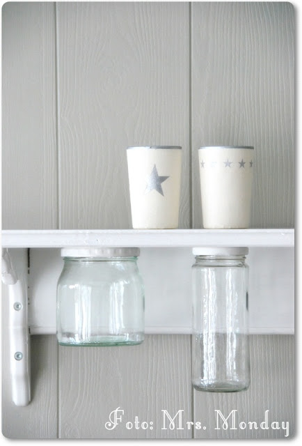 shelf with jars