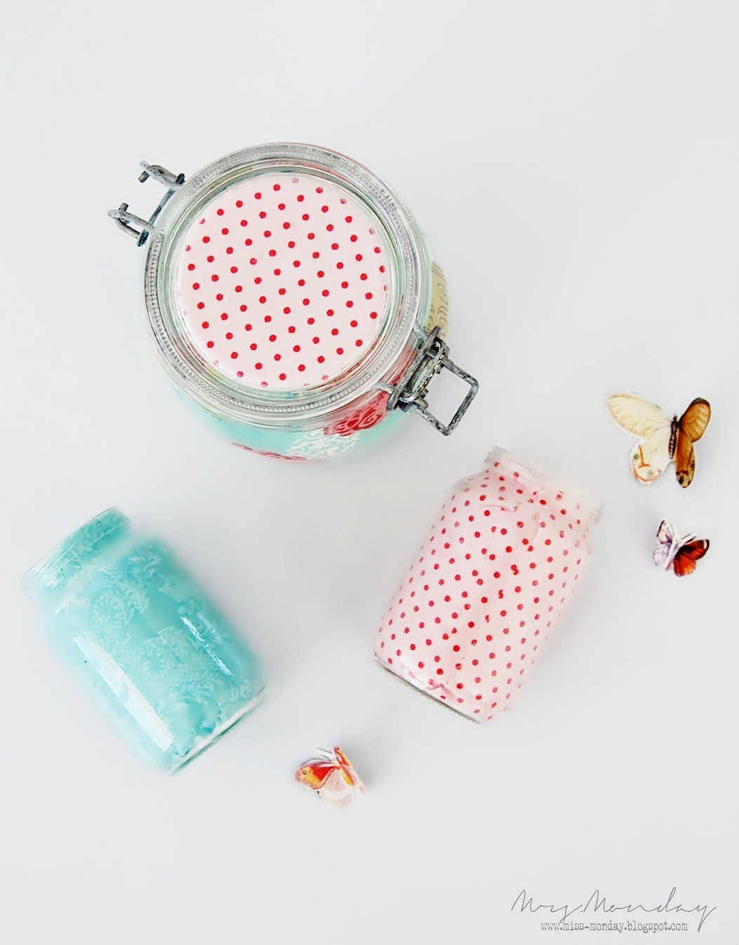 fabric covered jars