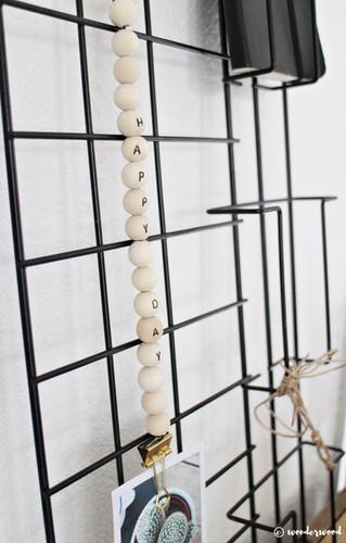 diy henger med trekuler // diy wooden bead hanger