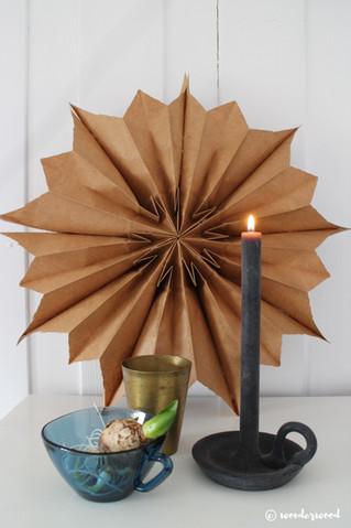 diy papirpose-stjerne // diy paper bag star