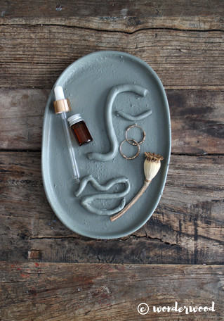 diy fat med ansikt // diy clay face tray