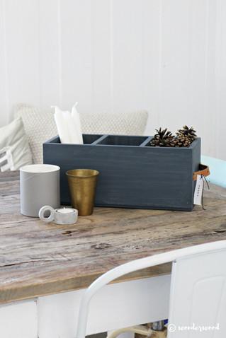 gjenbruk av treboks // recycled wooden box