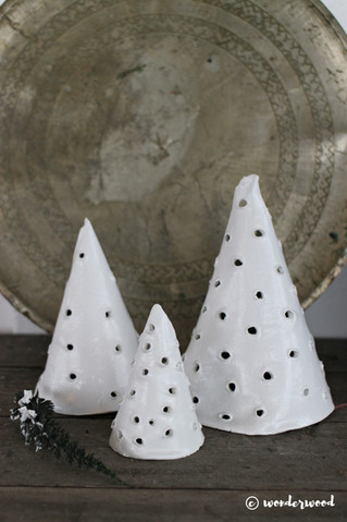 diy juletrær i leire // diy clay christmas trees