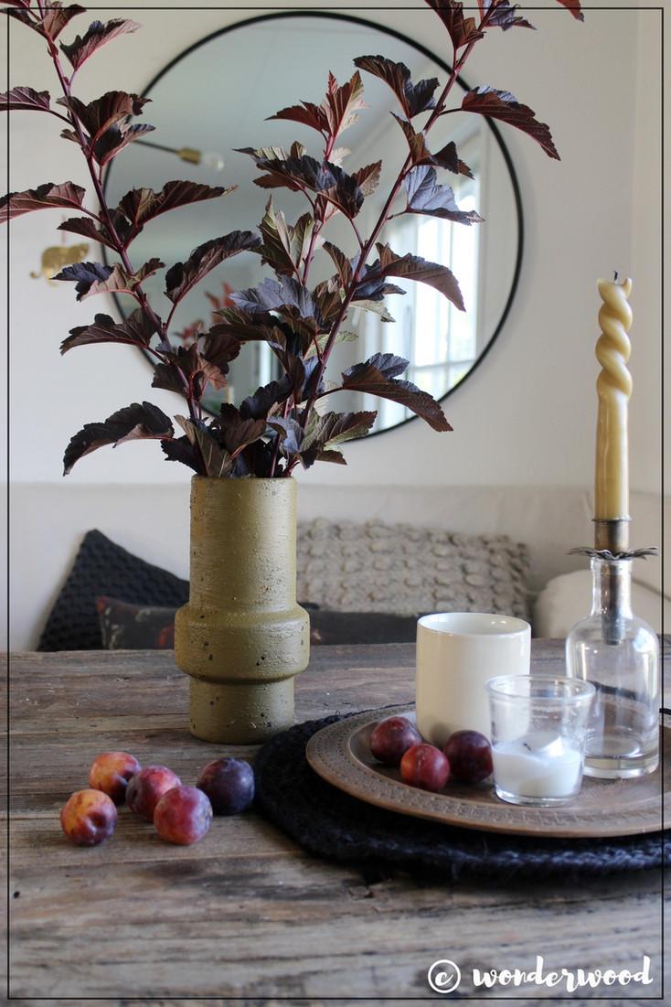 upcycled høst vase // upcycled fall vase