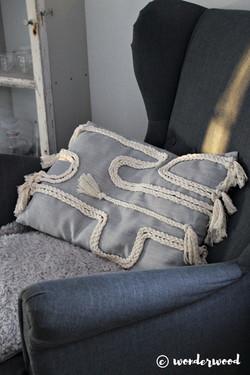 braided boho pillow