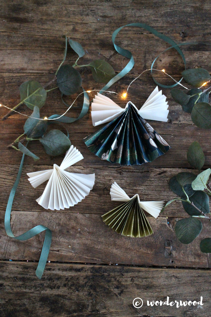 diy papirengler // diy paper angels