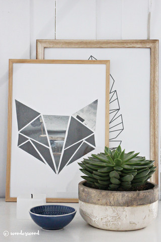 diy geometrisk kunst til barnerommet // diy geometric kids room art