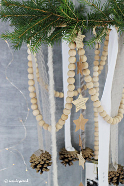 pinecone and bead wreath