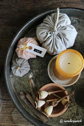 diy gresskar i stoff // diy fabric pumpkins