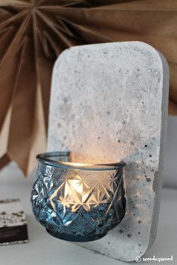concrete wall candle holder