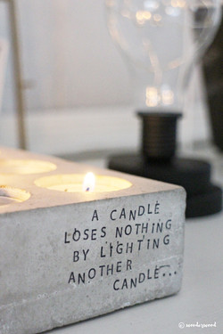 stamped candle holder