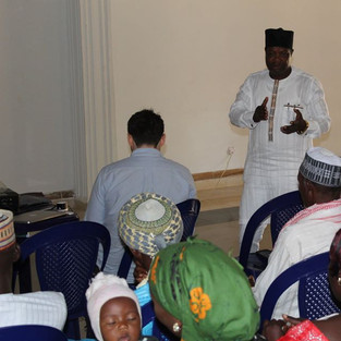 Executive Director of CEPAN presenting a