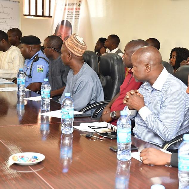 CEPAN Executive Director during a meetin