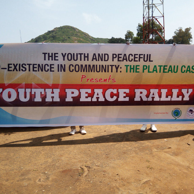 Youth Peace Rally for Peaceful co-existe