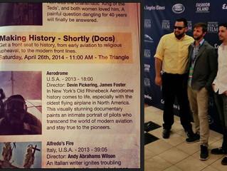 Us at the Screening and Program