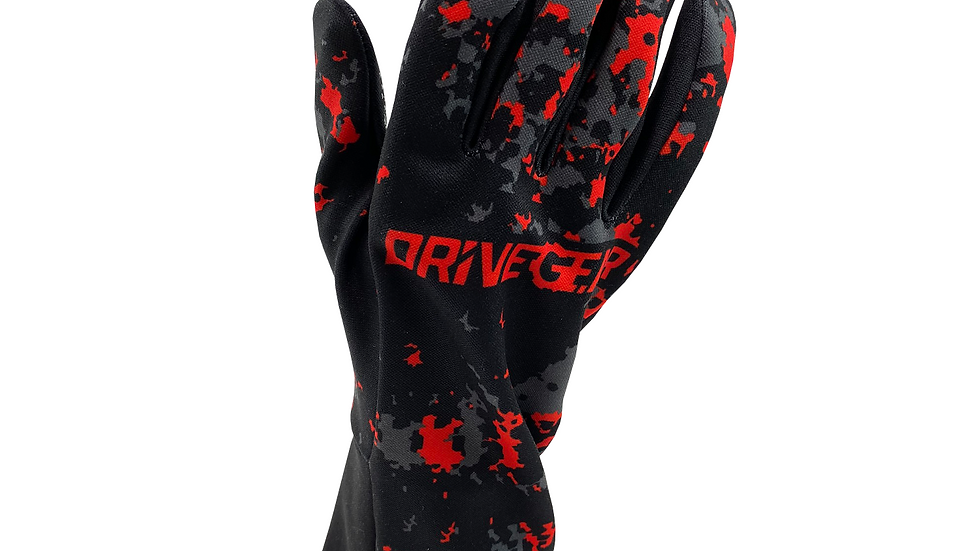 Drive Gear Red Camo Racing Glove