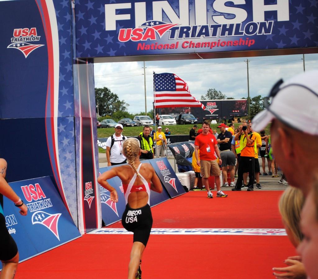 USAT Triathlon Finish Line 2012