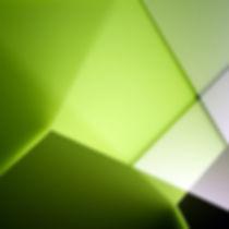 Grün-Schwarz-Weiße Wand