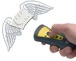 First barcode scanner with emailing abilities