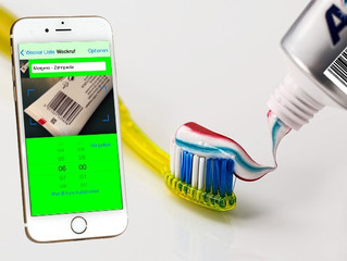 Help from barcodes - new alarm app digs the toothpaste