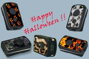 Colorful Halloween party with powerlineECCO
