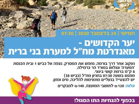 שביל ישראל- 24.12.2020 יער הקדושים