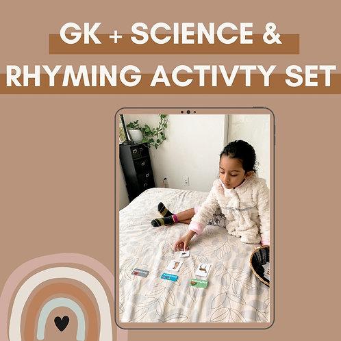 Preschool & Pre - K GK + Science & Rhyming Activity Set
