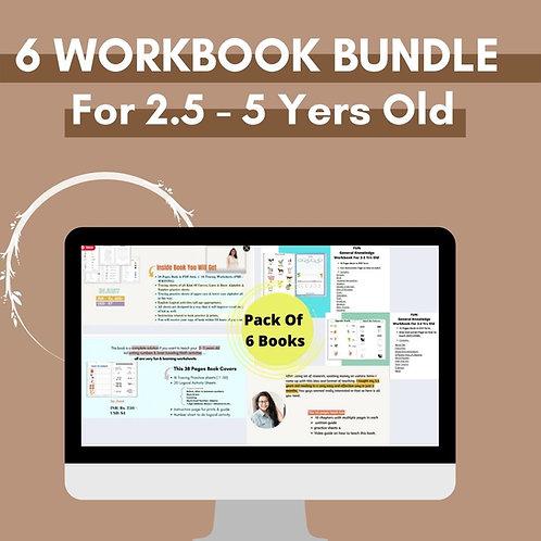Preschool & Pre - K Workbook BUNDLE (Pack of 6)
