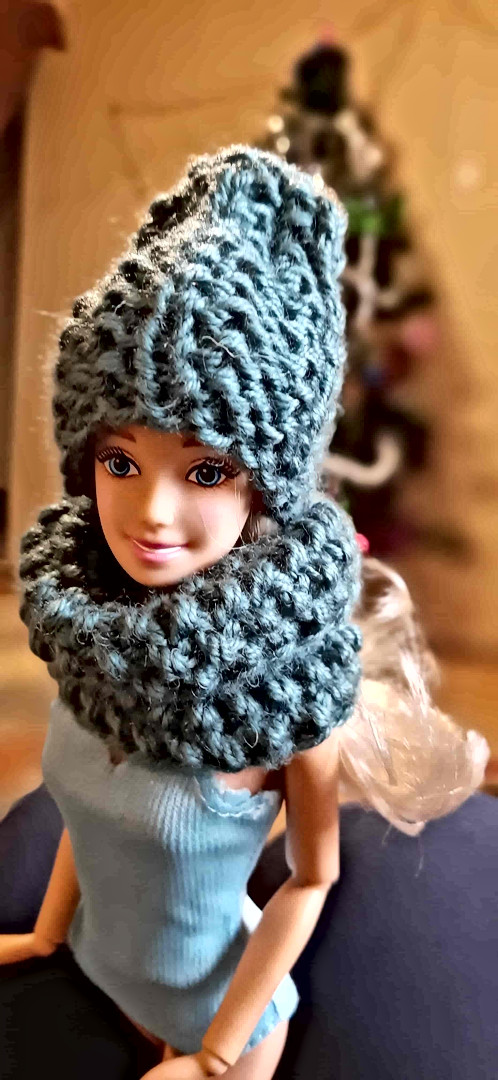 Высокий шарф и с шапкой