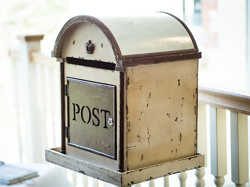 Rustic Post Box with Stand
