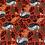 Thumbnail: Winter Dreams Royal Fox Cinnamon Metallic, by RJR Fabrics, Christmas Fabric