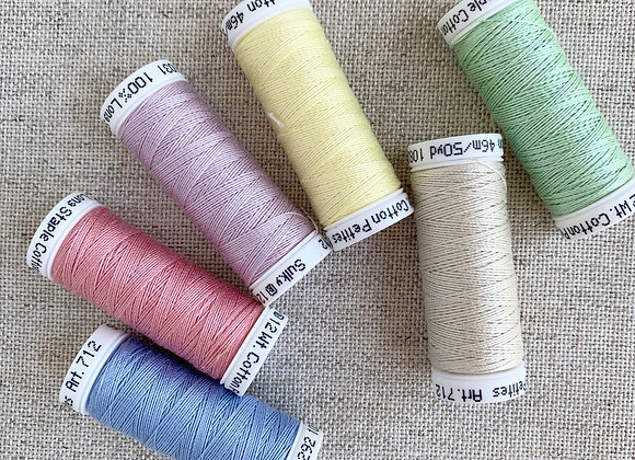 Sulky Sampler 12wt Cotton Petites, Spring Colors Collection, 6-Pack