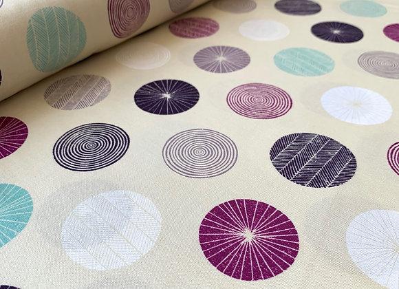 Happy Day Circle Sand Fabric