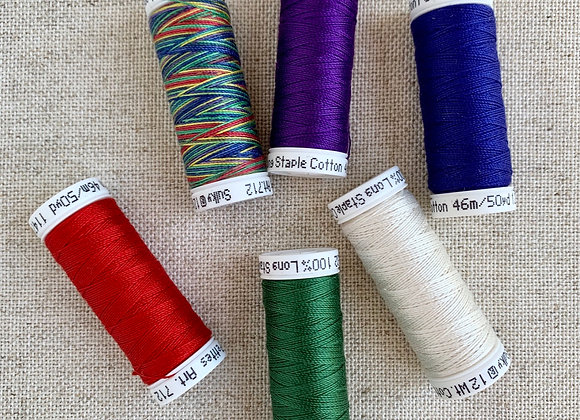 Sulky Sampler 12wt Cotton Petites, Winter Colors Collection, 6-Pack