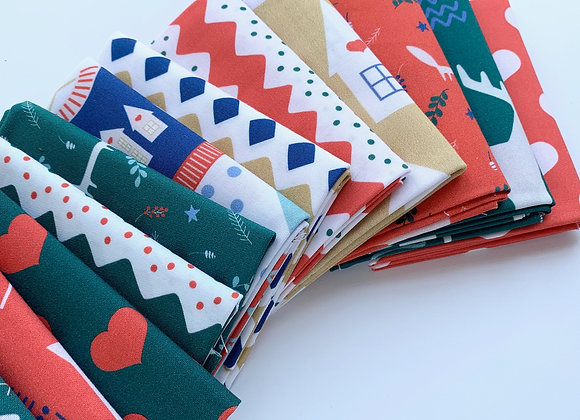 Fat Quarter Bundle, Scandinavian Christmas from PBS Fabrics