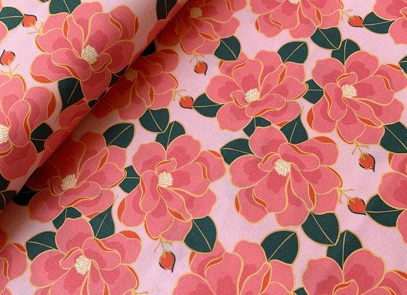 Magnolia Wonderland Floral Pink from PBS Fabrics