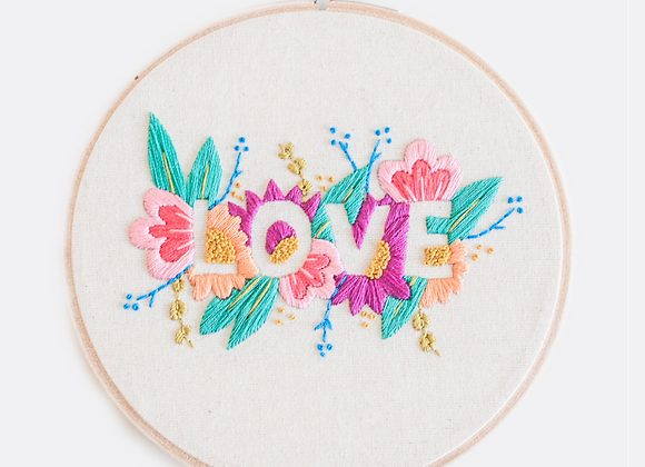 """LOVE"" PDF Embroidery Pattern by Brynn & Co"