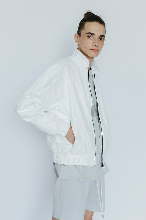 Tyvek ветровка куртка белая МОЕ MADE ON EARTH сделано на земле