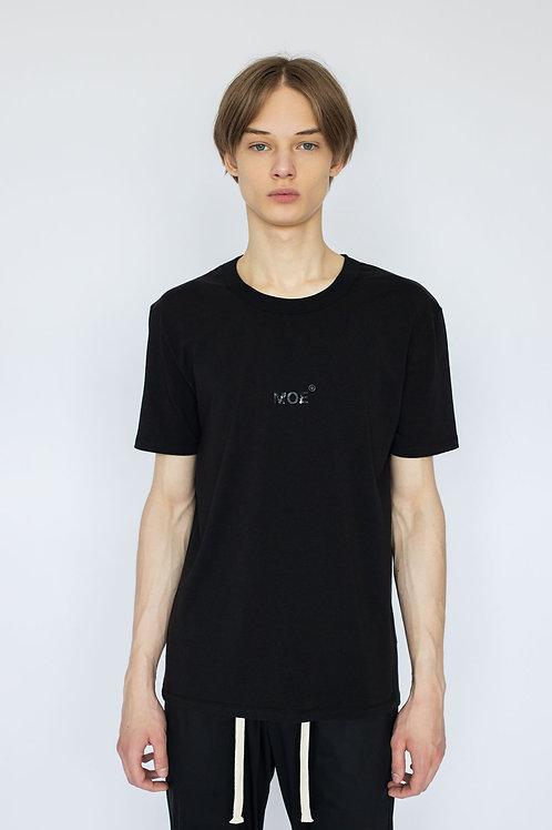 """Чёрная футболка с объемным принтом """"Камень"""""""