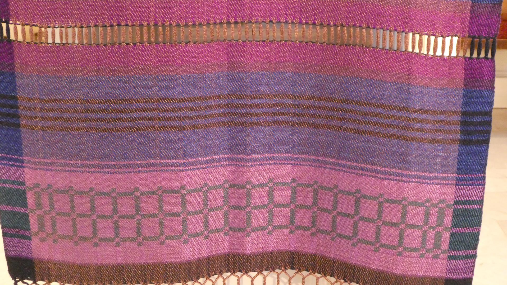 purple parament detail
