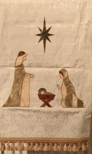 Christmas parament pulpit