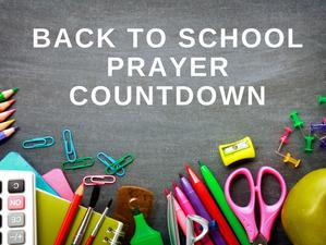 Back to School Prayer Countdown