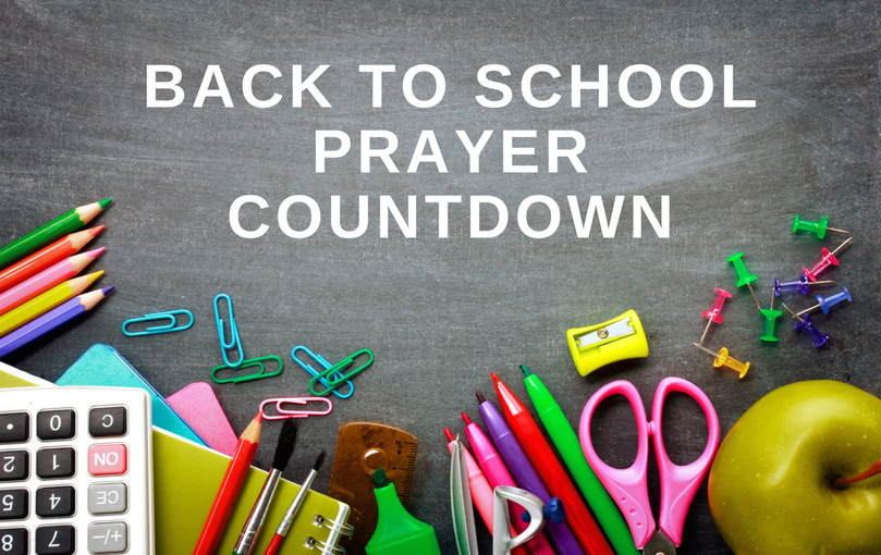 Back to School Prayer Countdown